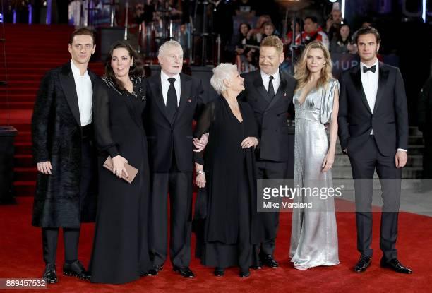 Sergei Polunin Olivia Colman Derek Jacobi Dame Judi Dench Kenneth Branagh Michelle Pfeiffer and Tom Bateman attend the 'Murder On The Orient Express'...