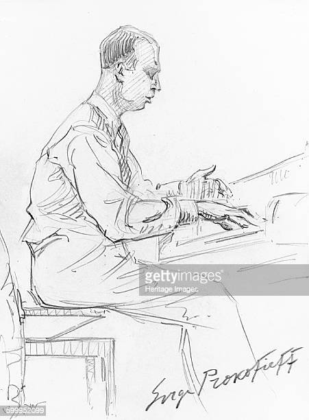 Sergei Prokofiev playing his Piano Concerto No 3 1936 Private Collection Artist Wiener Hilda