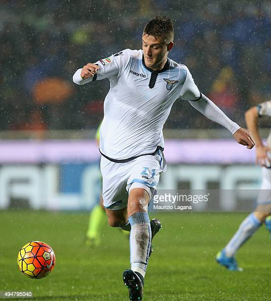 Sergej Milinkovic of Lazio during the Serie A match between Atalanta BC and SS Lazio at Stadio Atleti Azzurri d'Italia on October 28 2015 in Bergamo...