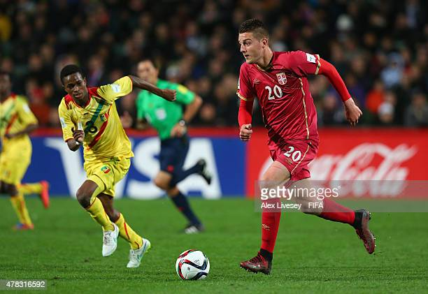 Sergej Milinkovic of Serbia attacks during the FIFA U20 World Cup Semi Final match between Serbia and Mali at North Harbour Stadium on June 17 2015...