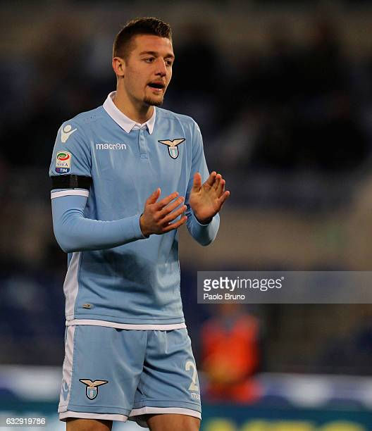 Sergej Milinkovic of SS Lazio during the Serie A match between SS Lazio and AC ChievoVerona at Stadio Olimpico on January 28 2017 in Rome Italy