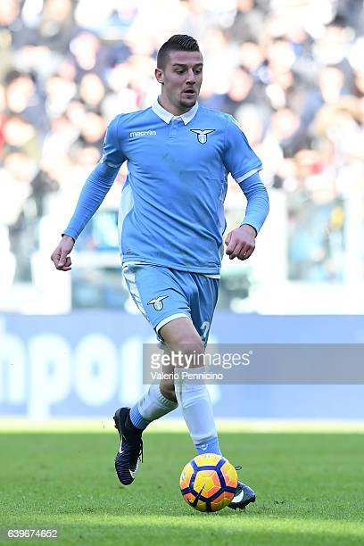 Sergej Milinkovic of SS Lazio in action during the Serie A match between Juventus FC and SS Lazio at Juventus Stadium on January 22 2017 in Turin...