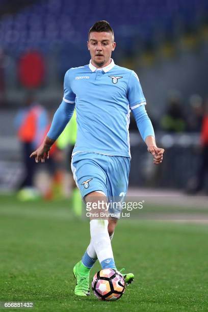 Sergej Milinkovic of SS Lazio in action during the Serie A match between SS Lazio and FC Torino at Stadio Olimpico on March 13 2017 in Rome Italy