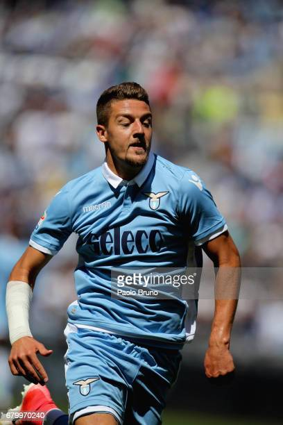 Sergej Milinkovic of SS Lazio in action during the Serie A match between SS Lazio and UC Sampdoria at Stadio Olimpico on May 7 2017 in Rome Italy