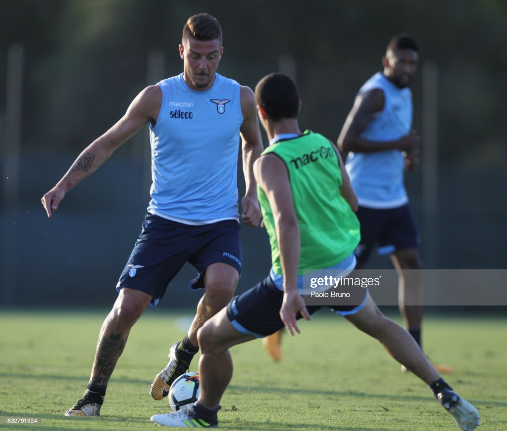Sergej Milinkovic of SS Lazio in action during the SS Lazio training session on August 16, 2017 in Rome, Italy.
