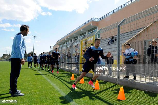 Sergej Milinkovic Savic during the SS Lazio Training Session at the Formello Center in Rome on April 20 2017 in Rome Italy