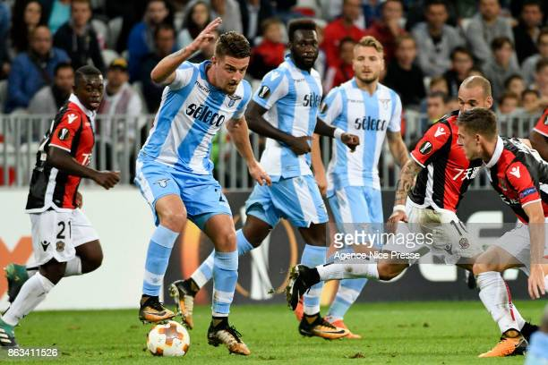 Sergej Milinkovic Savic of Lazio during the Europa League match between OGC Nice and Lazio Roma at Allianz Riviera on October 19 2017 in Nice France