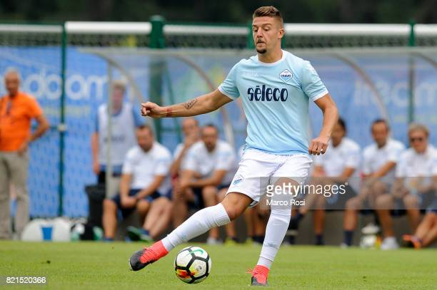 Sergej Milinkovic Savic of SS Lazio during the preseason friendly match between SS Lazio and SPAL on July 22 2017 in Pieve di Cadore Italy