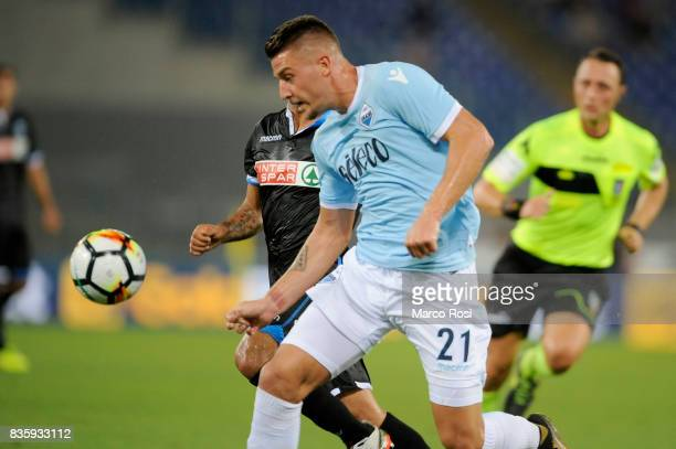 Sergej Milinkovic Savic of SS Lazio during the Serie A match between SS Lazio and Spal at Olimpico Stadium on August 20 2017 in Rome Italy