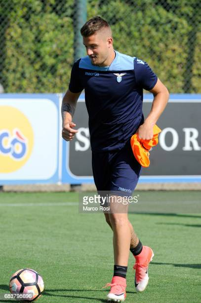 Sergej Milinkovic Savic of SS Lazio during the SS Lazio Training Session And Press Conference on May 15 2017 in Rome Italy