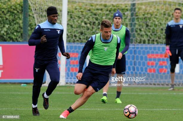Sergej Milinkovic Savic of SS Lazio during the SS Lazio Training Session at the Formello Center on April 27 2017 in Rome Italy