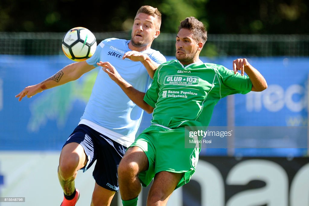 Sergej Milinkovic Savic of SS lazio in action during the Pre-Season Friendly match between SS Lazio and Reappresentativa Cadore on July 16, 2017 in Pieve di Cadore, Italy.