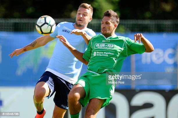 Sergej Milinkovic Savic of SS lazio in action during the PreSeason Friendly match between SS Lazio and Reappresentativa Cadore on July 16 2017 in...