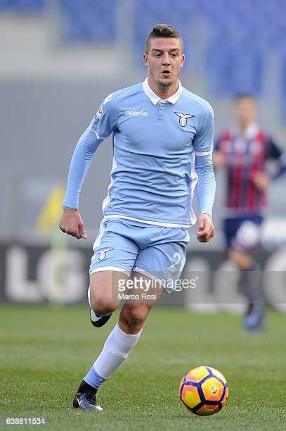 Sergej Milinkovic Savic of SS Lazio in action during the Serie A match between SS Lazio and FC Crotone at Stadio Olimpico on January 8 2017 in Rome...