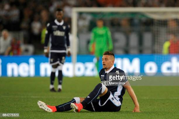 Sergej Milinkovic Savic of SS Lazio reacts during the TIM Cup Final match between SS Lazio and Juventus FC at Olimpico Stadium on May 17 2017 in Rome...