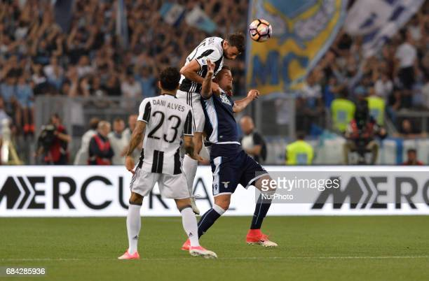 Sergej MilinkovicSavic Andrea Barzagli during the Tim Cup football match FC Juventus vs SS Lazio at the Olympic Stadium in Rome on may 17 2017