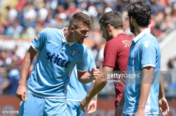 Sergej MilinkovicSavic during the Italian Serie A football match between AS Roma and SS Lazio at the Olympic Stadium in Rome on april 30 2017