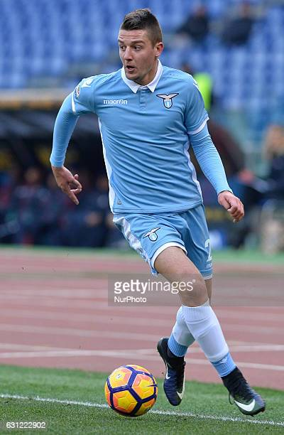 Sergej MilinkovicSavic during the Italian Serie A football match between SS Lazio and FC Crotone at the Olympic Stadium in Rome on janaury 08 2017