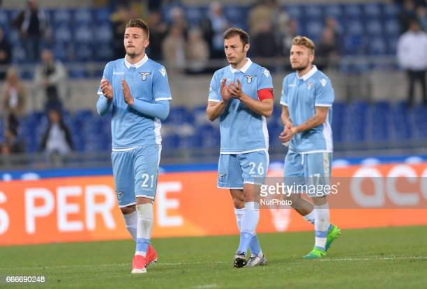 Sergej MilinkovicSavic during the Italian Serie A football match between SS Lazio and AC Napoli at the Olympic Stadium in Rome on april 09 2017