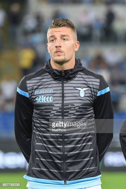 Sergej MilinkovicSavic during the Italian Serie A football match SS Lazio vs Spal at the Olympic Stadium in Rome august on 20 2017
