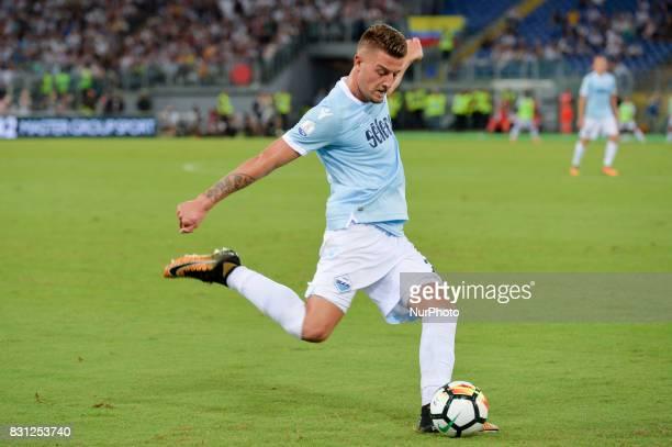 Sergej MilinkovicSavic during the Italian SuperCup TIM football match Juventus vs lazio on August 13 2017 at the Olympic stadium in Rome