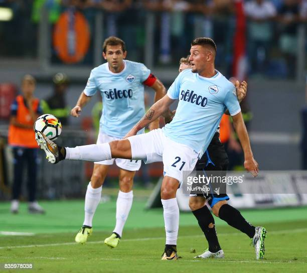 Sergej MilinkovicSavic of Lazio at Olimpico Stadium in Rome Italy on August 20 2017