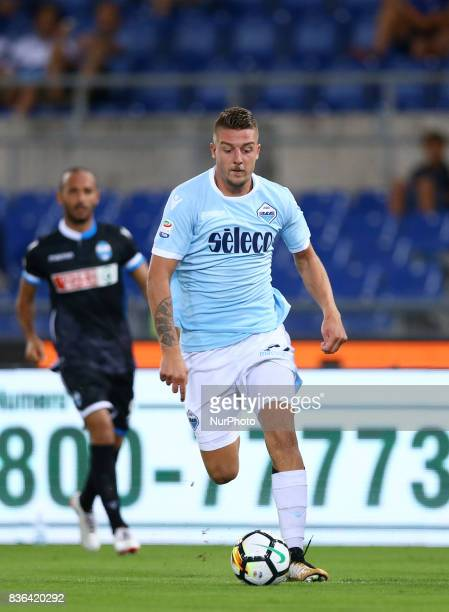 Sergej MilinkovicSavic of Lazio during the Serie A match between SS Lazio and Spal at Olimpico Stadium on August 20 2017 in Rome Italy