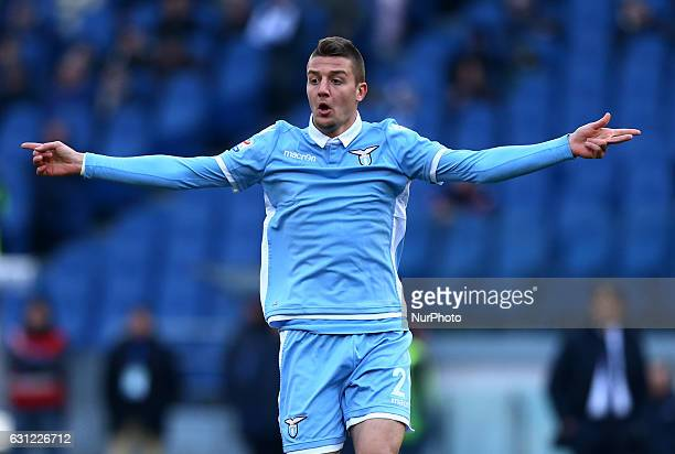 Sergej MilinkovicSavic of SS Lazio in action during the Serie A match between SS Lazio and FC Crotone at Stadio Olimpico on January 8 2017 in Rome...
