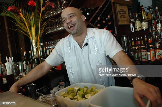 Sergeo Pedroso a server at Restaurant Cuba on Thompson St in the West Village comments on news of Fidel Castro's announcement that he'll be stepping...