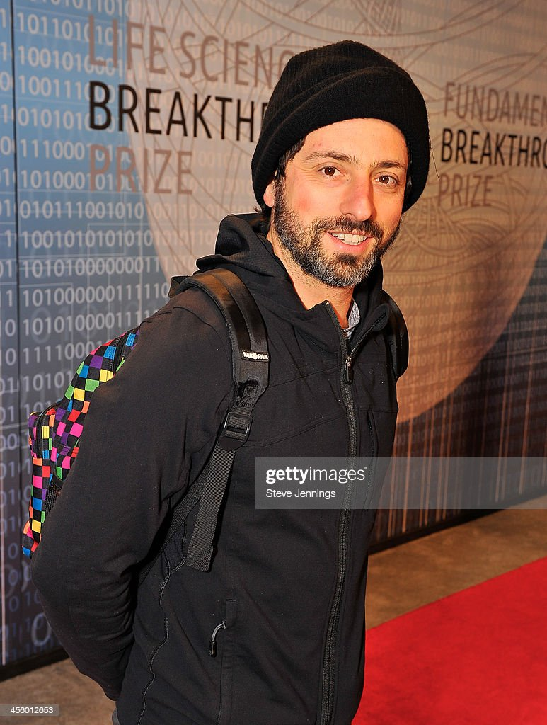 Sergey Brin attends the 2014 Breakthrough Prize Inaugural Ceremony for Awards in Fundamental Physics and Life Sciences at NASA Ames Research Center on December 12, 2013 in Mountain View, California.