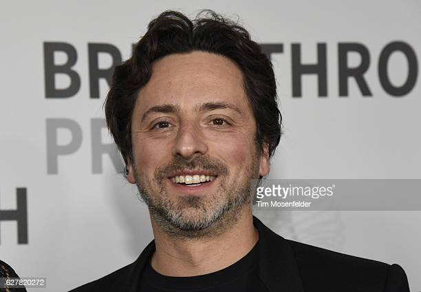 Sergey Brin attends the 5th Annual Breakthrough Prize Ceremony at NASA Ames Research Center on December 4 2016 in Mountain View California