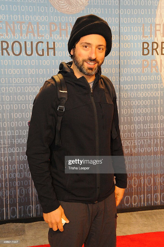 <a gi-track='captionPersonalityLinkClicked' href=/galleries/search?phrase=Sergey+Brin&family=editorial&specificpeople=753551 ng-click='$event.stopPropagation()'>Sergey Brin</a> attends the Breakthrough Prize Inaugural Ceremony at NASA Ames Research Center on December 12, 2013 in Mountain View, California.