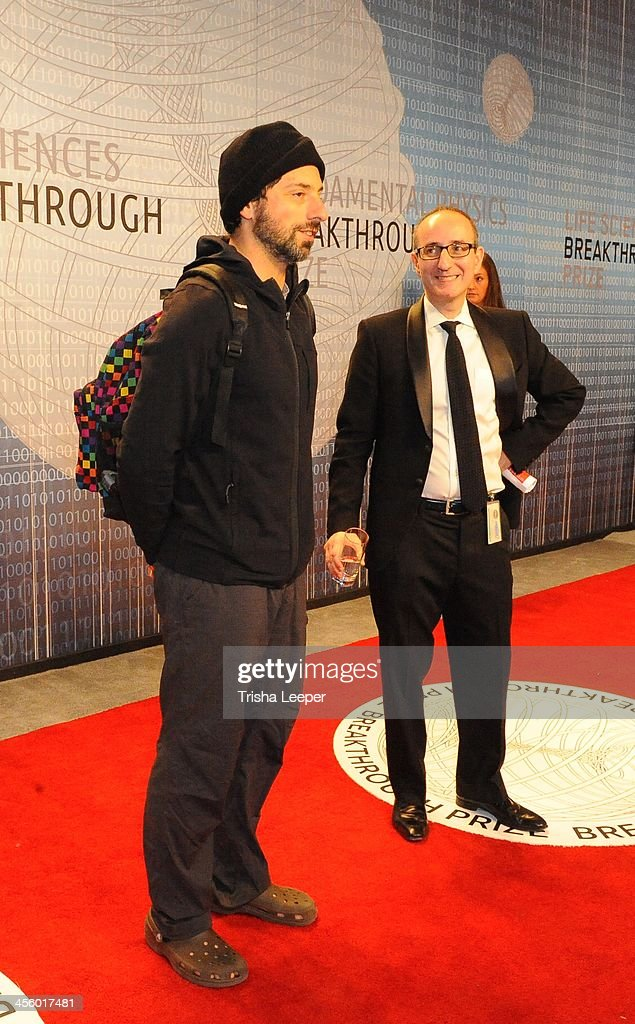 Sergey Brin attends the Breakthrough Prize Inaugural Ceremony at NASA Ames Research Center on December 12, 2013 in Mountain View, California.