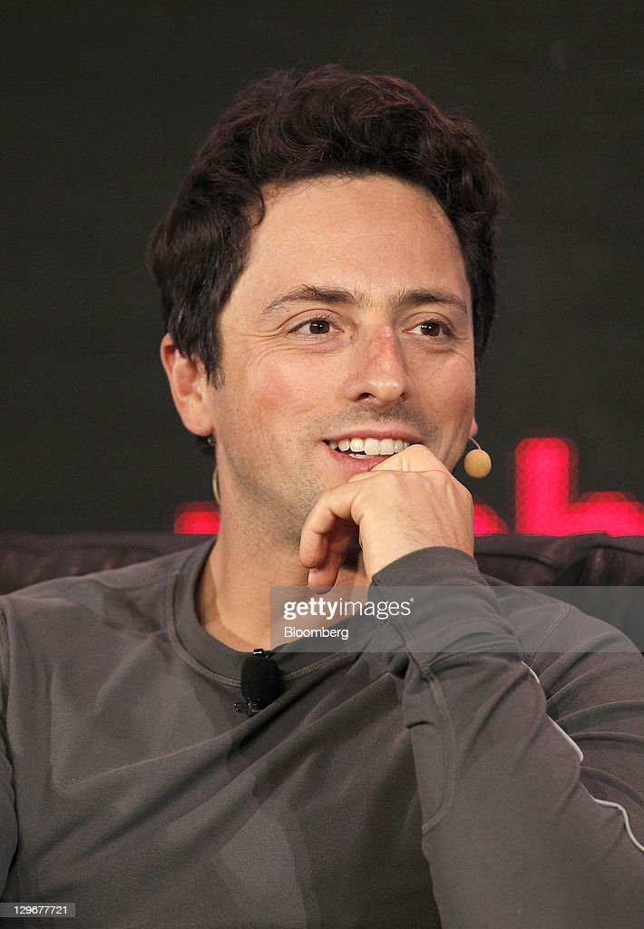 <a gi-track='captionPersonalityLinkClicked' href=/galleries/search?phrase=Sergey+Brin&family=editorial&specificpeople=753551 ng-click='$event.stopPropagation()'>Sergey Brin</a>, co-founder of Google Inc., smiles during the Web 2.0 Summit in San Francisco, California, U.S., on Wednesday, Oct. 19, 2011. The conference brings together 1,000 senior executives from the worlds of technology, media, finance, telecommunications, entertainment, and the Internet. Photographer: Tony Avelar/Bloomberg via Getty Images