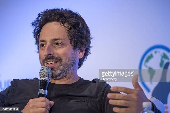 Sergey Brin president of Alphabet and cofounder of Google Inc speaks during the 2016 Global Entrepreneurship Summit at Stanford University in...