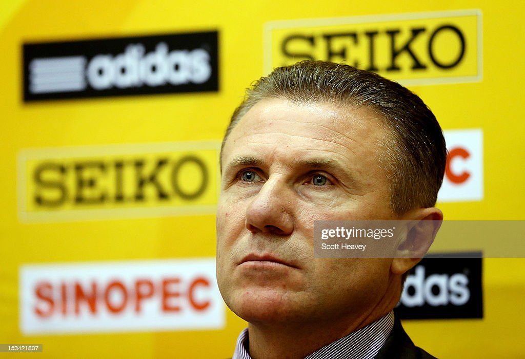 Sergey Bubka, IAAF Vice President during a press conference ahead of the 20th IAAF World Half Marathon on October 5, 2012 in Kavarna, Bulgaria.