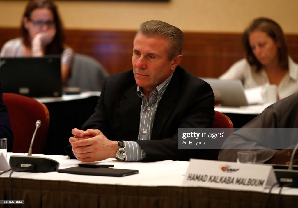 Sergey Bubka, Senior Vice president of the IAAF, listens during the 211th IAAF Council Meeting on August 13, 2017 in London, England.