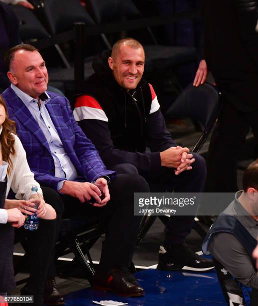 Sergey Kovalev attends the Toronto Raptors Vs New York Knicks game at Madison Square Garden on November 22 2017 in New York City