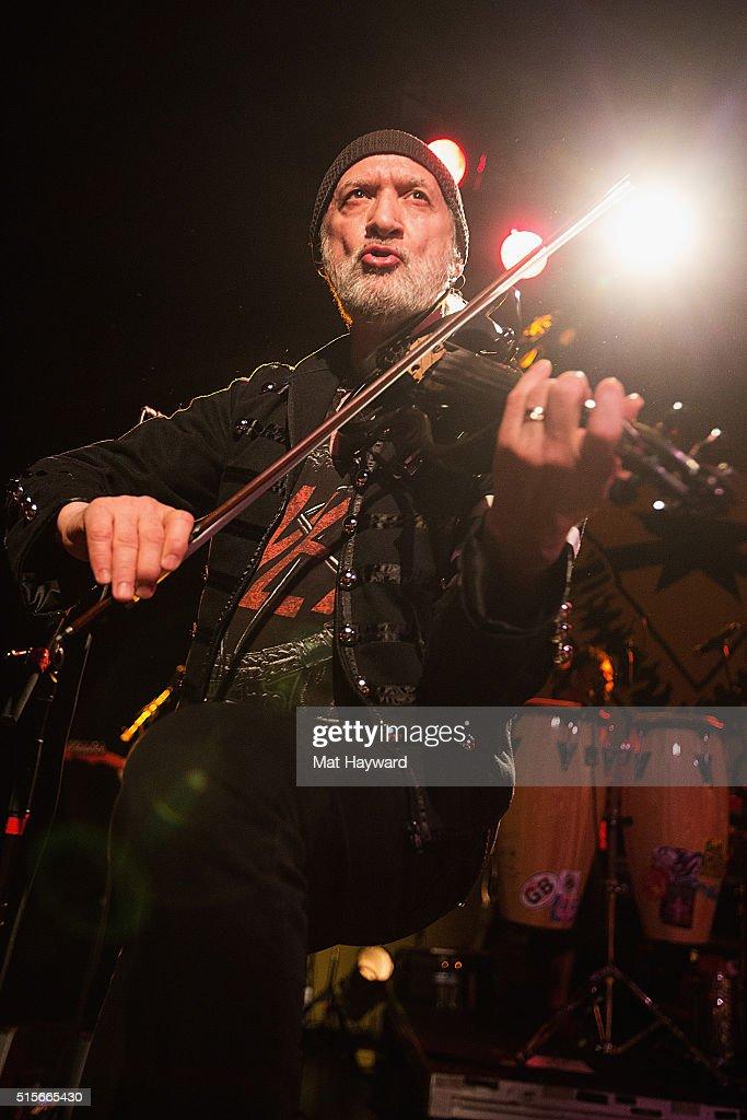 Sergey Ryabtzev of Gogol Bordello performs on stage at The Showbox on March 14, 2016 in Seattle, Washington.