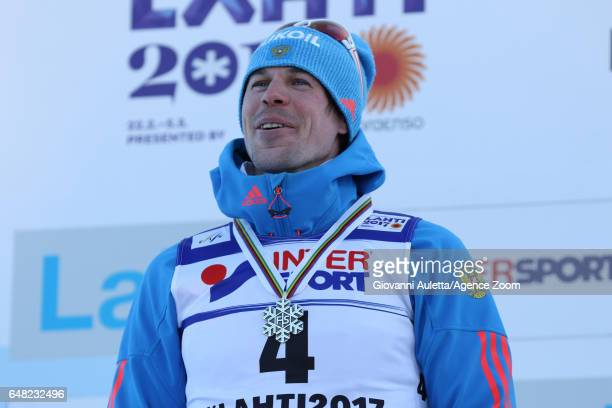 Sergey Ustiugov of Russia wins the bronze medal during the FIS Nordic World Ski Championships Men's Cross Country Mass Start on March 5 2017 in Lahti...