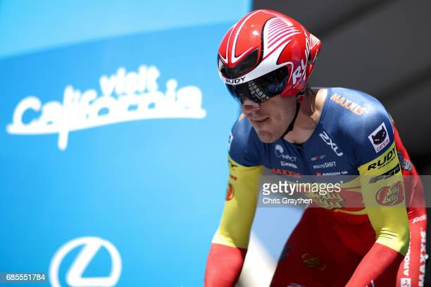 Serghei Tvetcov of Romania riding for Jelly Belly P/B Maxxis rides during stage five of the AMGEN Tour of California from Ontario to Mt Baldy on May...
