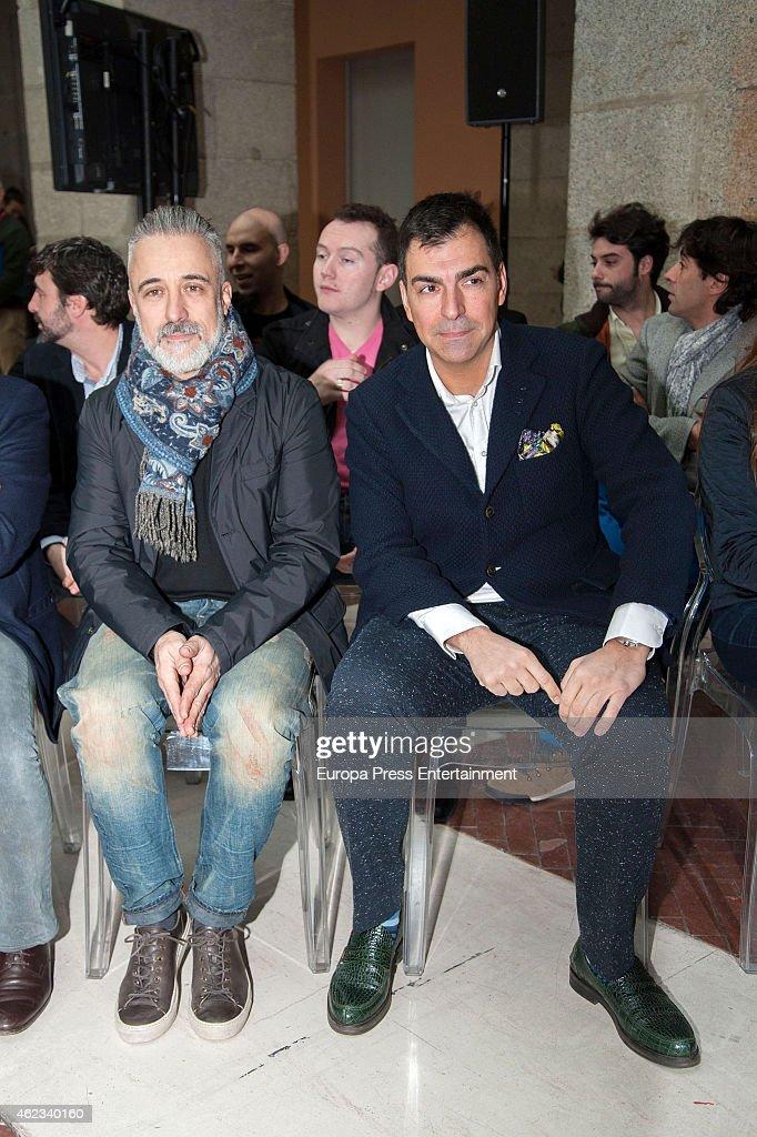 Sergi Arola and Ramon Freixa attend Madrid Michelin Starred Chefs at Real Casa de Correos on January 26 2015 in Madrid Spain
