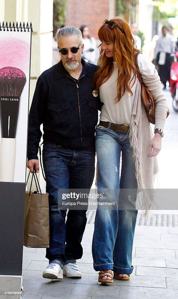 Sergi Arola and Silvia Fominaya are seen on May 6 2015 in Madrid Spain