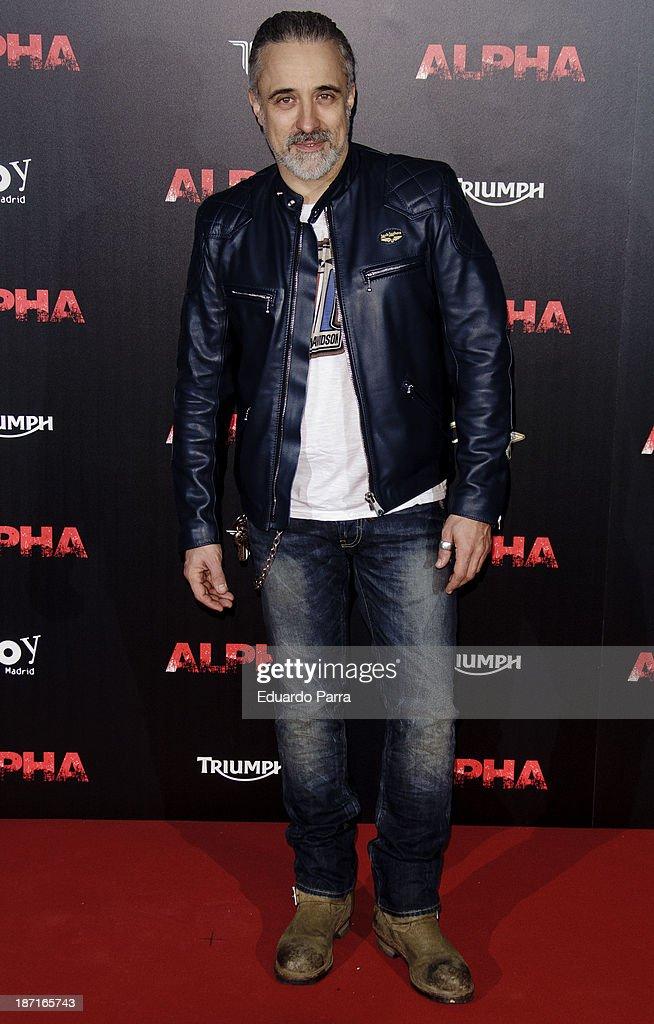 Sergi Arola attends 'Alpha' premiere photocall at Kinepolis cinema on November 6 2013 in Madrid Spain