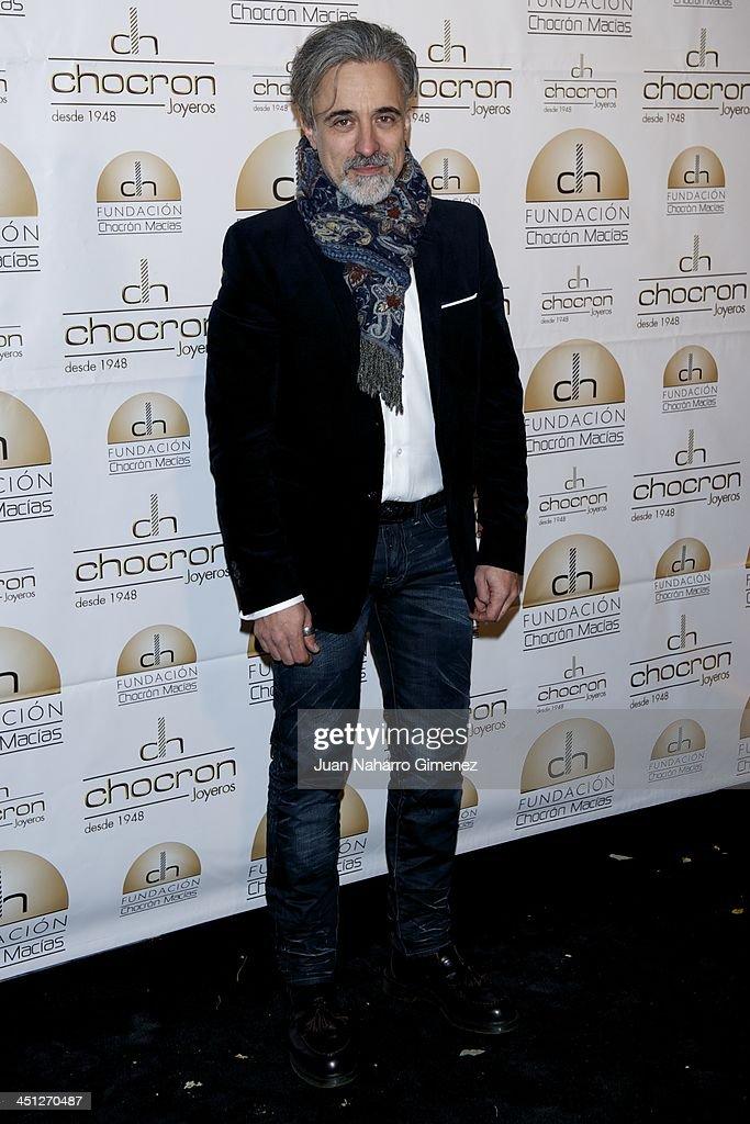 Sergi Arola attends Chocron Jewelry Charity Catalogue presentation at Teatriz Restaurant on November 21 2013 in Madrid Spain