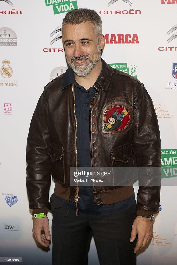 Sergi Arola attends 'Dame la Vida 500' concert at Arteria Coliseum Theater on April 9 2012 in Madrid Spain