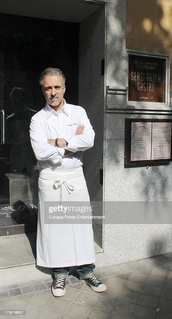 Sergi Arola owner of two Michelin stars restaurant 'Arola Gastro' poses the day that he opens it on July 10 2013 in Madrid Spain The restaurant was...