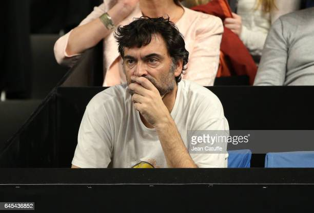Sergi Bruguera coach of Richard Gasquet of France looks on during the Open 13 an ATP 250 tennis tournament at Palais des Sports on February 25 2017...