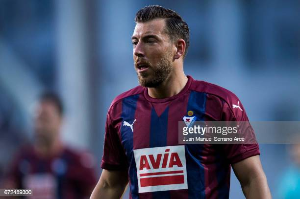 Sergi Enrich of SD Eibar looks on during the La Liga match between SD Eibar and Athletic Club at Ipurua Municipal Stadium on on April 24 2017 in...