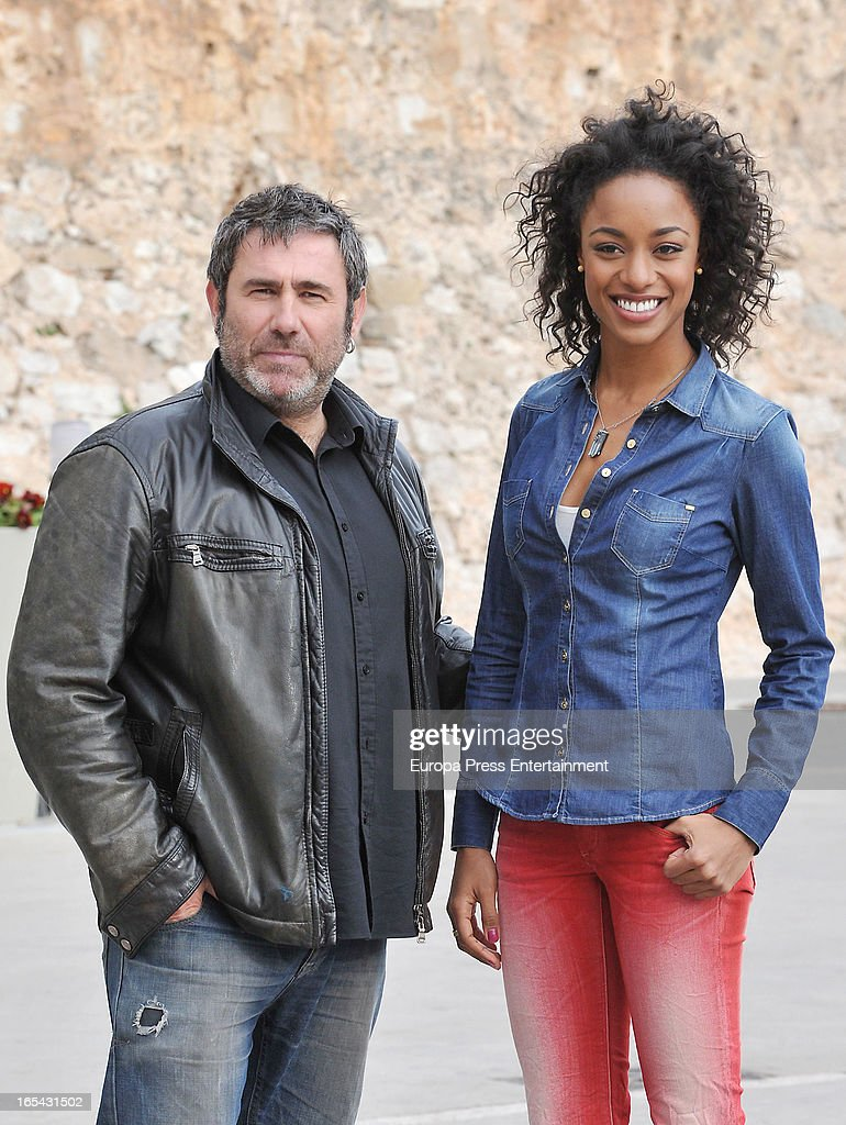 <a gi-track='captionPersonalityLinkClicked' href=/galleries/search?phrase=Sergi+Lopez&family=editorial&specificpeople=609180 ng-click='$event.stopPropagation()'>Sergi Lopez</a> and Ella Kweku are seen on the set of their latest film 'Ismael' on March 25, 2013 in Barcelona, Spain.